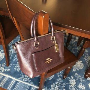 Gorgeous dark plum color coach bag